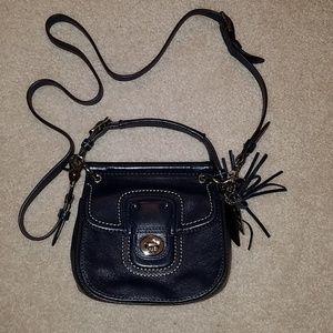 Coach navy cross body purse
